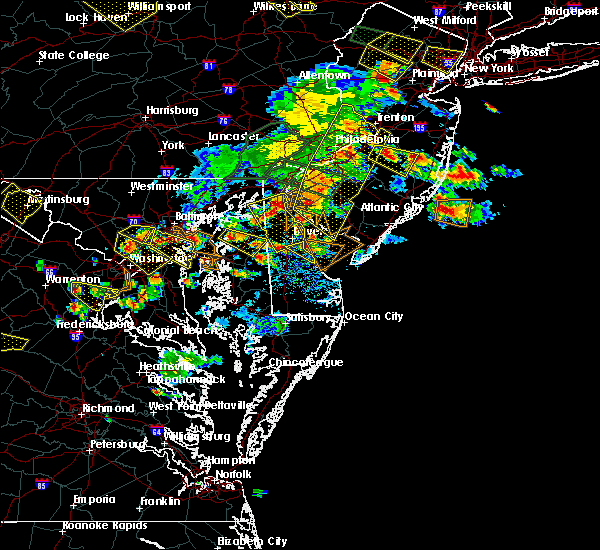 Radar Image for Severe Thunderstorms near Dover, DE at 6/29/2019 4:52 PM EDT