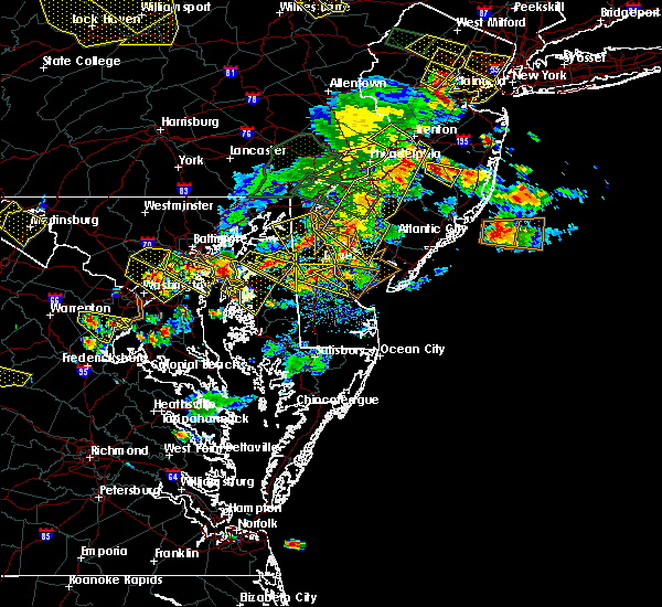 Radar Image for Severe Thunderstorms near Stevensville, MD at 6/29/2019 5:01 PM EDT