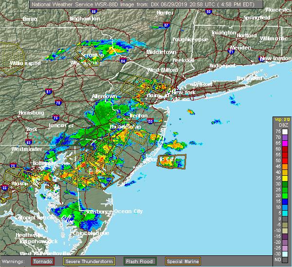 Radar Image for Severe Thunderstorms near Roselle Park, NJ at 6/29/2019 5:02 PM EDT
