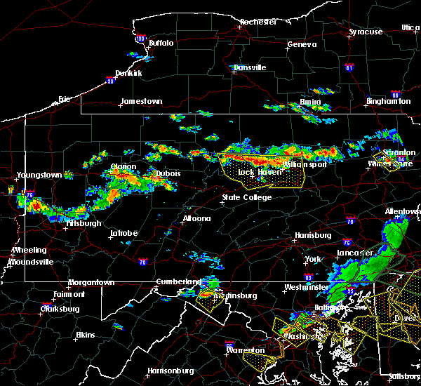 Radar Image for Severe Thunderstorms near Williamsport, PA at 6/29/2019 5:02 PM EDT