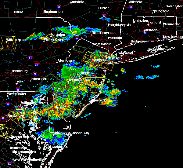 Radar Image for Severe Thunderstorms near Clayton, NJ at 6/29/2019 5:13 PM EDT