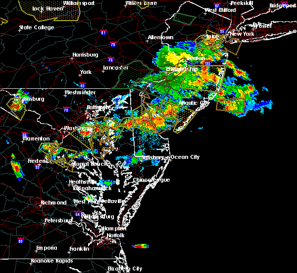 Radar Image for Severe Thunderstorms near Dover, DE at 6/29/2019 5:29 PM EDT