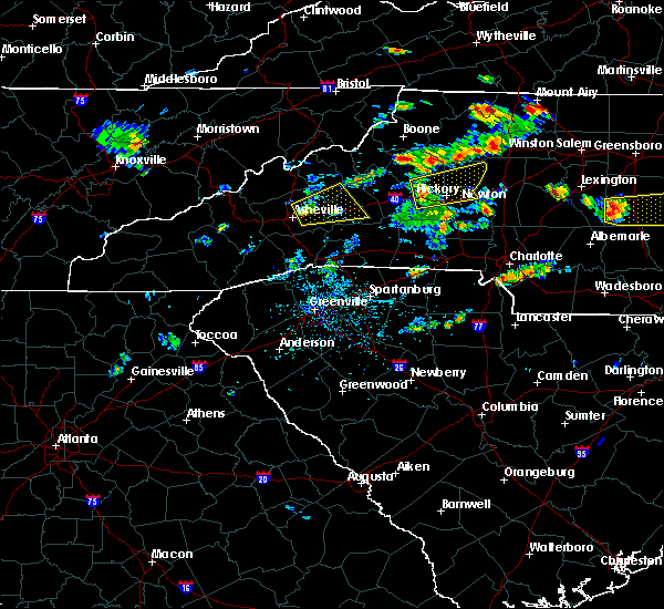 Radar Image for Severe Thunderstorms near Newton, NC at 6/19/2015 3:31 PM EDT