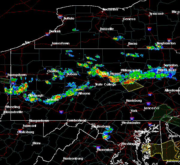 Radar Image for Severe Thunderstorms near Danville, PA at 6/29/2019 6:07 PM EDT
