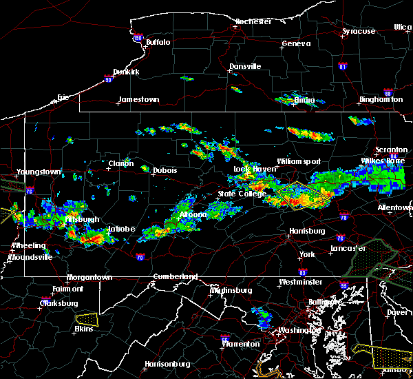 Radar Image for Severe Thunderstorms near Kulpmont, PA at 6/29/2019 6:43 PM EDT