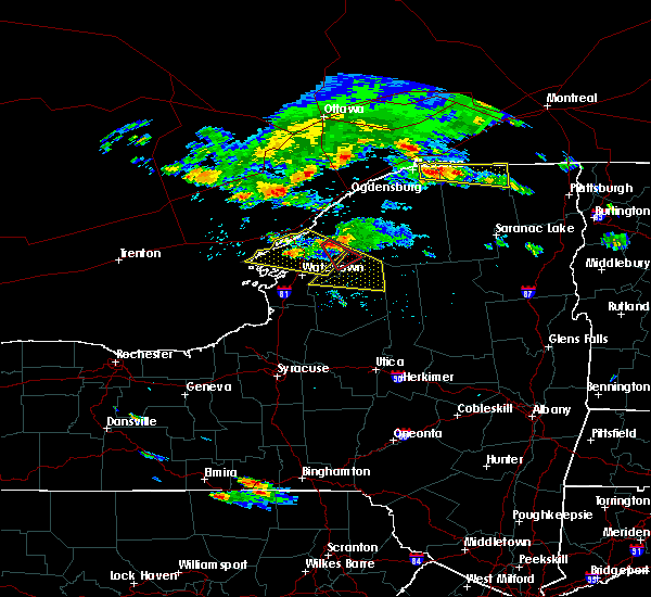Radar Image for Severe Thunderstorms near Oxbow, NY at 6/29/2019 7:25 PM EDT
