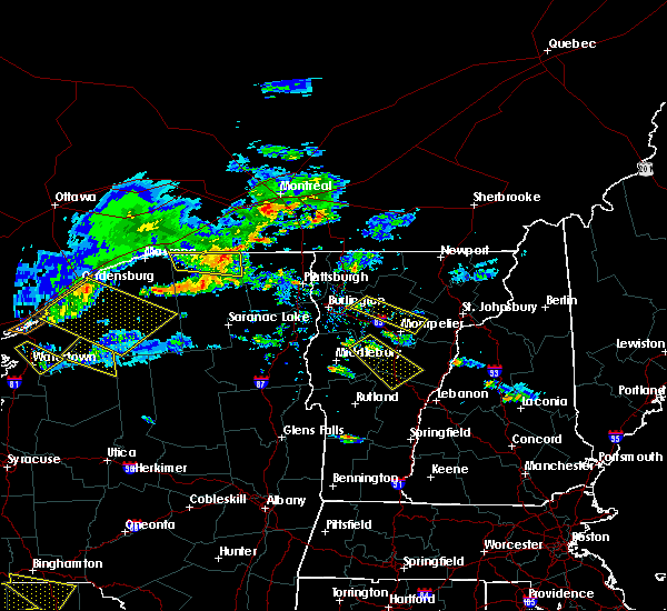 Radar Image for Severe Thunderstorms near Paul Smiths, NY at 6/29/2019 8:14 PM EDT