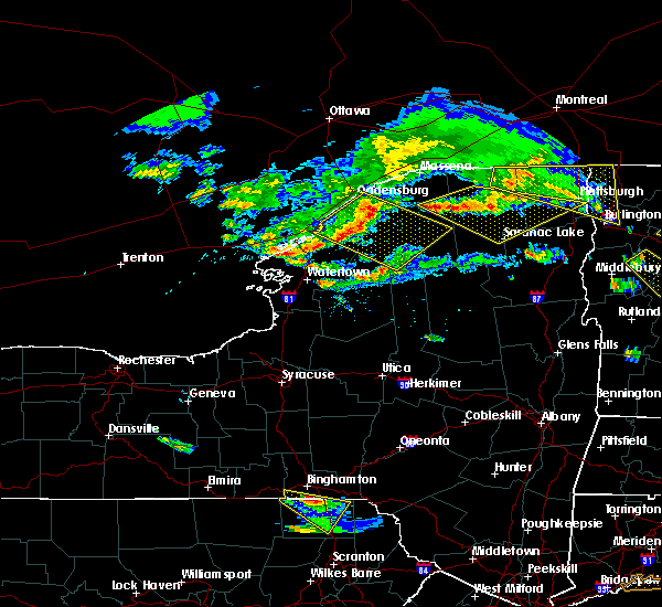 Radar Image for Severe Thunderstorms near Oxbow, NY at 6/29/2019 8:22 PM EDT