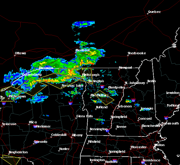 Radar Image for Severe Thunderstorms near Paul Smiths, NY at 6/29/2019 8:45 PM EDT