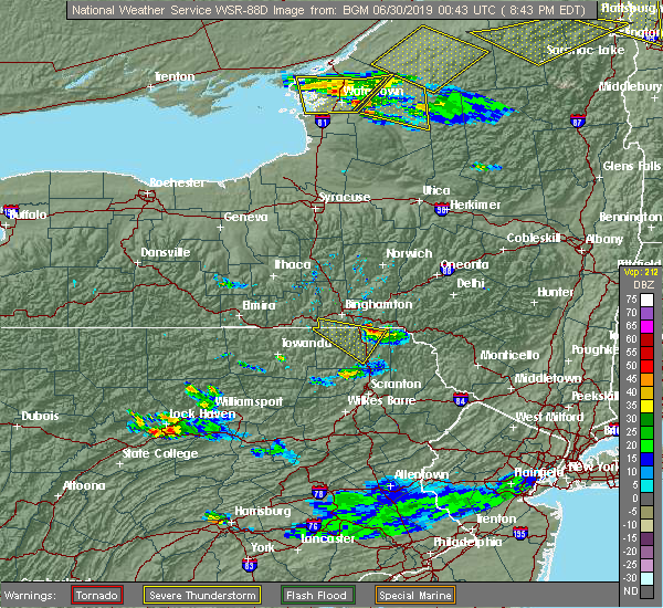 Radar Image for Severe Thunderstorms near Oakland, PA at 6/29/2019 8:46 PM EDT