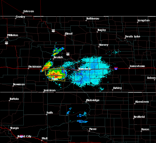 Radar Image for Severe Thunderstorms near Carson, ND at 6/29/2019 6:56 PM MDT