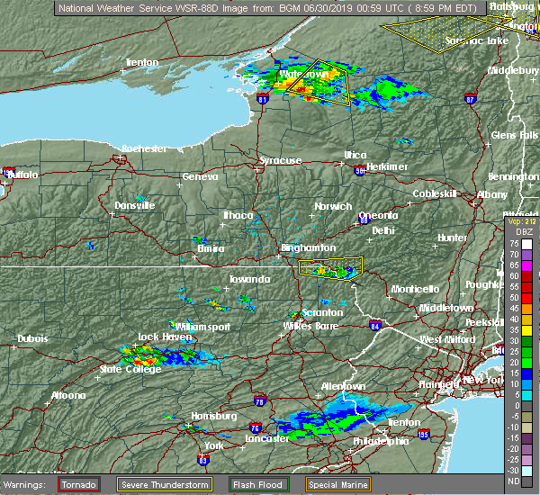 Radar Image for Severe Thunderstorms near Oakland, PA at 6/29/2019 9:06 PM EDT