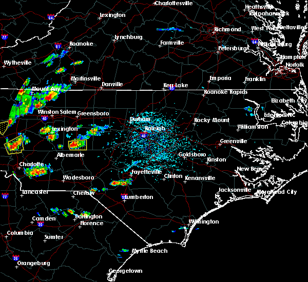 Radar Image for Severe Thunderstorms near Raeford, NC at 6/19/2015 4:14 PM EDT