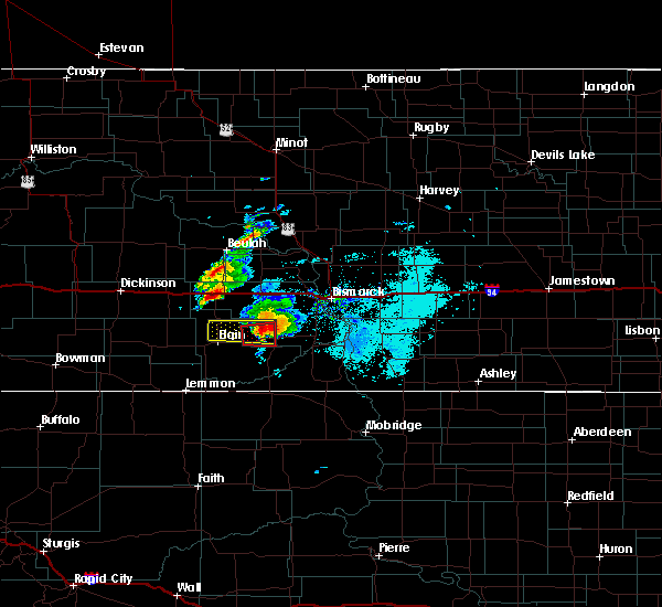 Radar Image for Severe Thunderstorms near Carson, ND at 6/29/2019 7:25 PM MDT