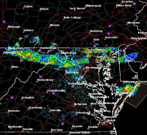 Radar Image for Severe Thunderstorms near Westminster, MD at 6/29/2019 10:58 PM EDT