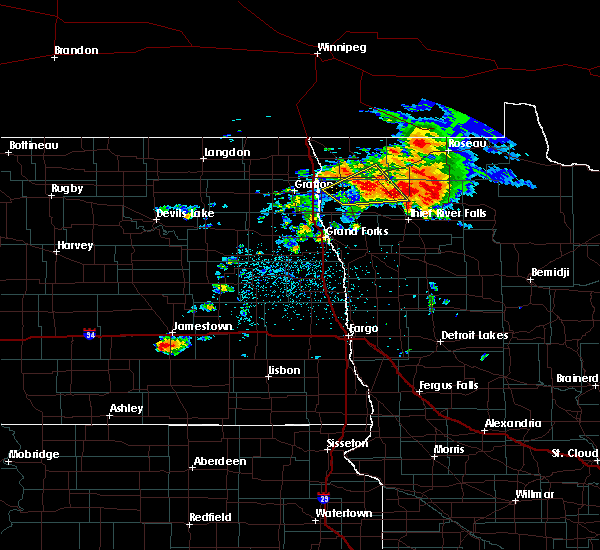 Radar Image for Severe Thunderstorms near Middle River, MN at 6/29/2019 10:58 PM CDT