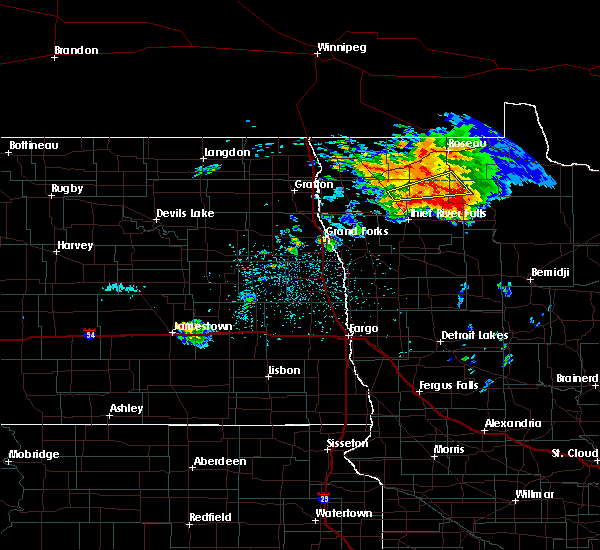 Radar Image for Severe Thunderstorms near Middle River, MN at 6/29/2019 11:20 PM CDT