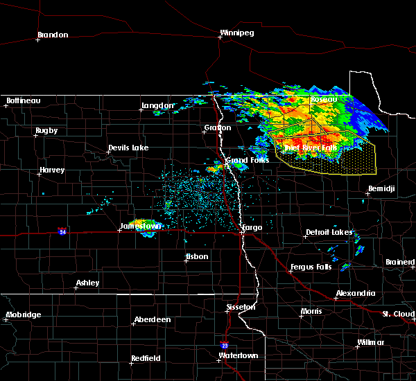 Radar Image for Severe Thunderstorms near Holt, MN at 6/29/2019 11:34 PM CDT