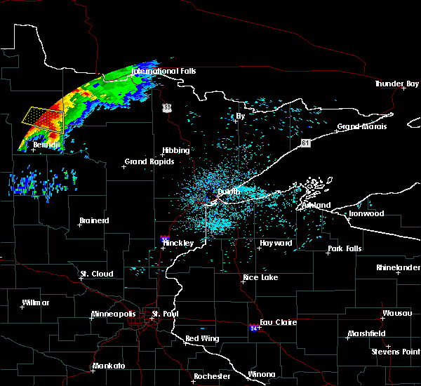Radar Image for Severe Thunderstorms near Northome, MN at 6/30/2019 12:58 AM CDT