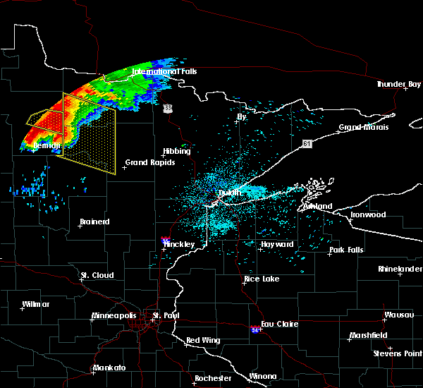 Radar Image for Severe Thunderstorms near Northome, MN at 6/30/2019 1:09 AM CDT