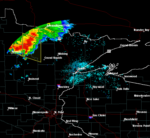 Radar Image for Severe Thunderstorms near Northome, MN at 6/30/2019 1:28 AM CDT