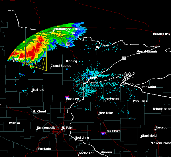 Radar Image for Severe Thunderstorms near Northome, MN at 6/30/2019 1:36 AM CDT