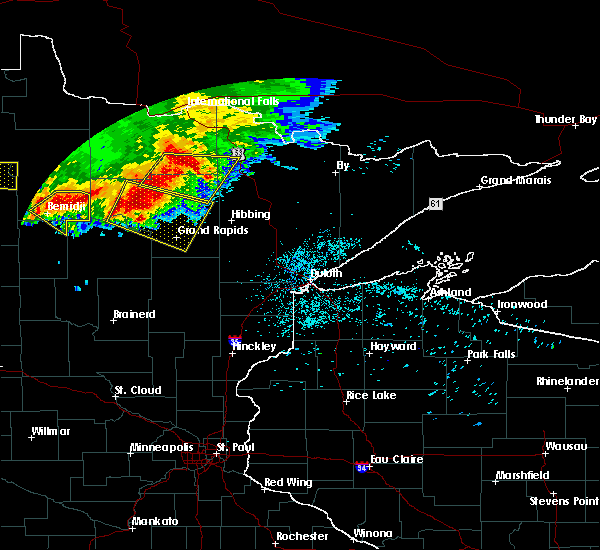 Radar Image for Severe Thunderstorms near Wilton, MN at 6/30/2019 2:07 AM CDT