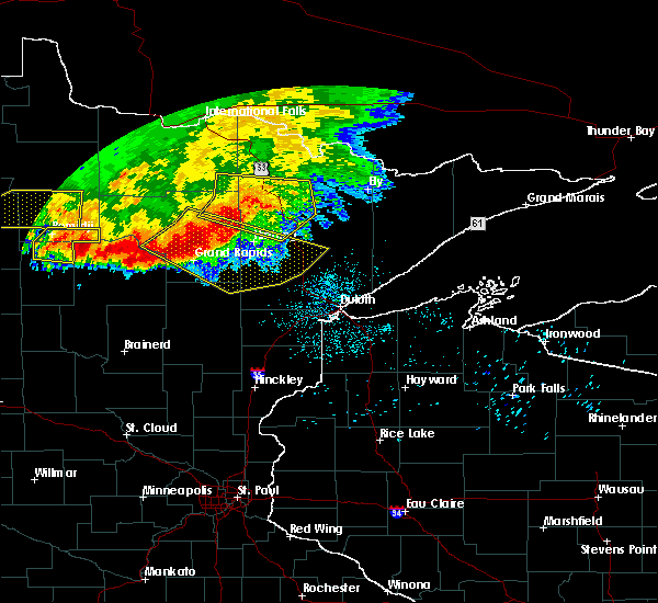Radar Image for Severe Thunderstorms near Cass Lake, MN at 6/30/2019 2:54 AM CDT