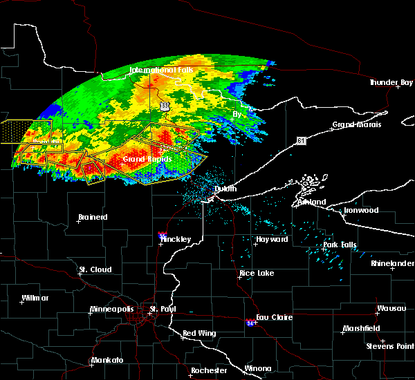 Radar Image for Severe Thunderstorms near Cass Lake, MN at 6/30/2019 3:10 AM CDT