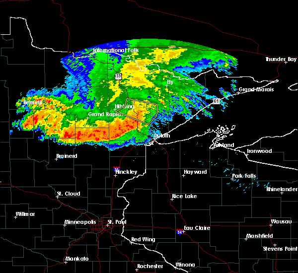 Radar Image for Severe Thunderstorms near Aurora, MN at 6/30/2019 3:57 AM CDT