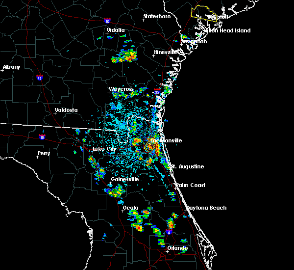 Radar Image for Severe Thunderstorms near Jacksonville, FL at 6/19/2015 4:36 PM EDT