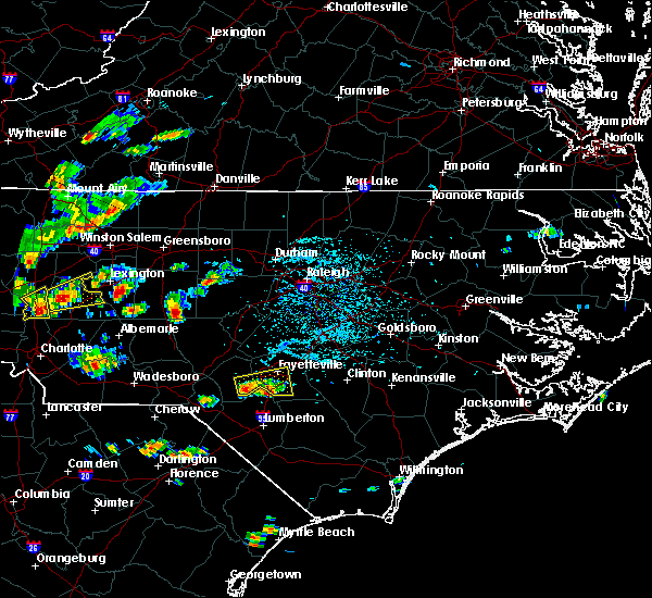 Radar Image for Severe Thunderstorms near Bennett, NC at 6/19/2015 4:36 PM EDT