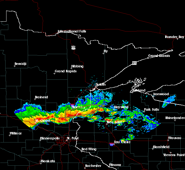 Radar Image for Severe Thunderstorms near Rock Creek, MN at 6/30/2019 11:19 AM CDT