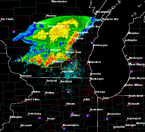 Radar Image for Severe Thunderstorms near Jefferson, WI at 6/30/2019 11:29 AM CDT