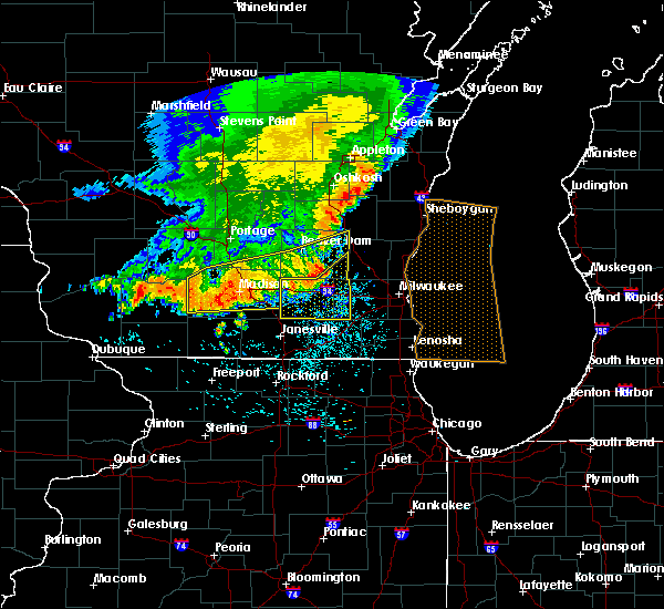 Radar Image for Severe Thunderstorms near Lake Koshkonong, WI at 6/30/2019 11:40 AM CDT