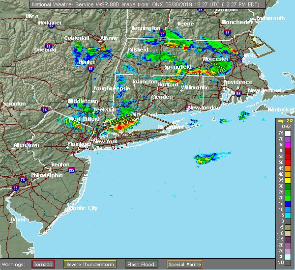 Radar Image for Severe Thunderstorms near Shoreham, NY at 6/30/2019 2:33 PM EDT
