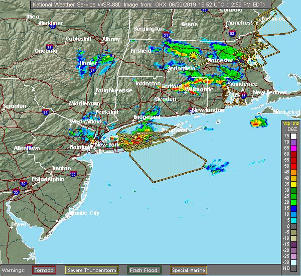 Radar Image for Severe Thunderstorms near Shoreham, NY at 6/30/2019 2:58 PM EDT