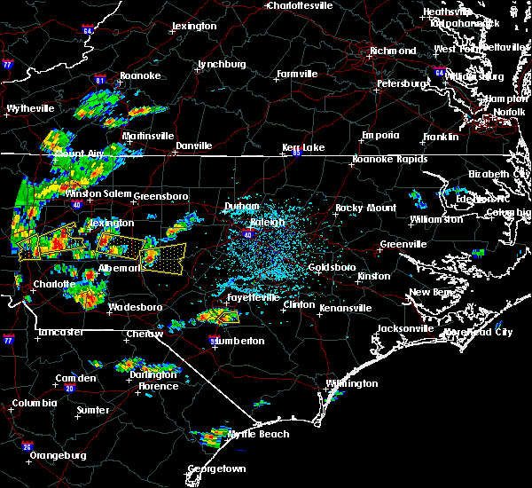 Radar Image for Severe Thunderstorms near Fayetteville, NC at 6/19/2015 4:46 PM EDT