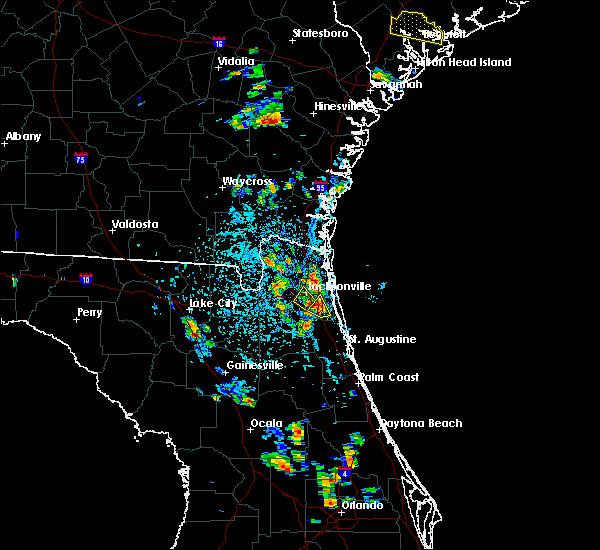 Radar Image for Severe Thunderstorms near Jacksonville, FL at 6/19/2015 4:50 PM EDT