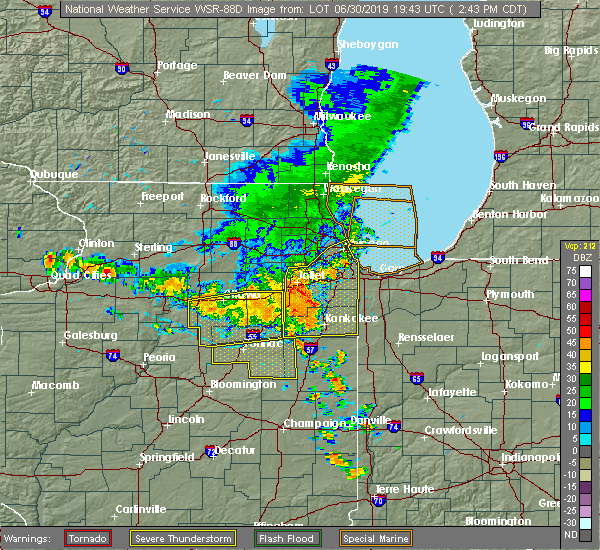 Radar Image for Severe Thunderstorms near Cornell, IL at 6/30/2019 2:49 PM CDT
