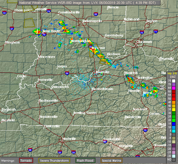 Radar Image for Severe Thunderstorms near New Washington, IN at 6/30/2019 4:44 PM EDT