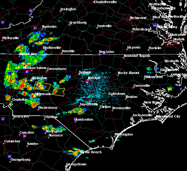 Radar Image for Severe Thunderstorms near Asheboro, NC at 6/19/2015 5:02 PM EDT