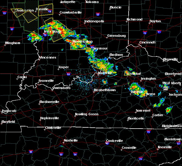 Radar Image for Severe Thunderstorms near Utica, KY at 6/30/2019 5:40 PM EDT