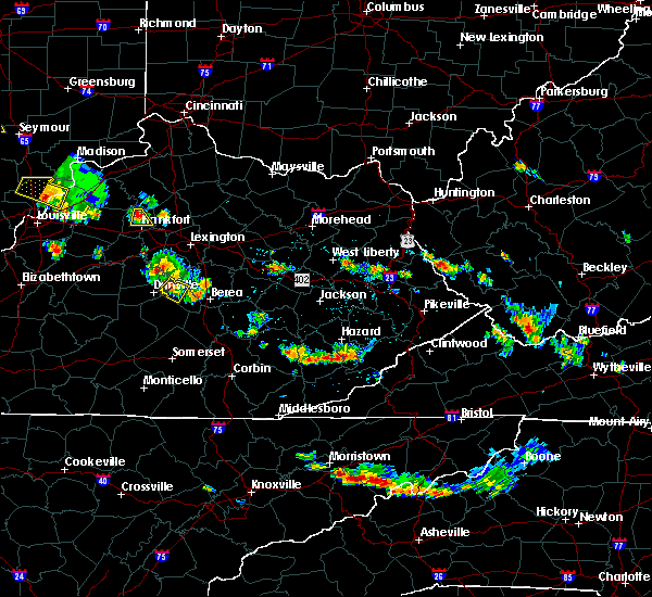 Radar Image for Severe Thunderstorms near Lancaster, KY at 6/30/2019 5:43 PM EDT