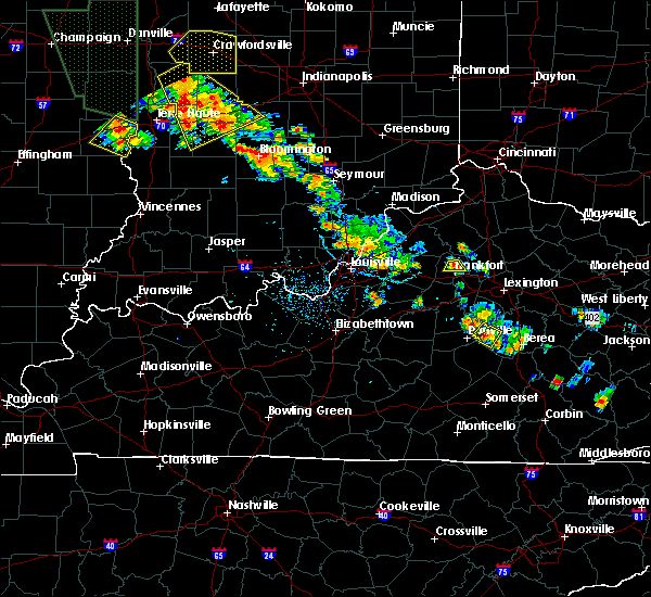 Radar Image for Severe Thunderstorms near Frankfort, KY at 6/30/2019 5:50 PM EDT