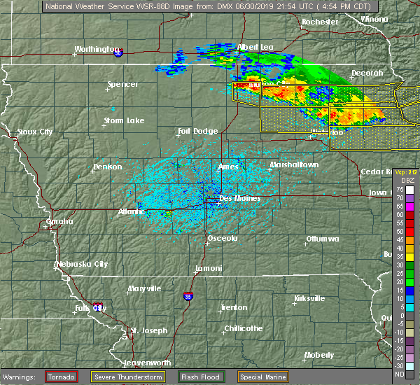 Radar Image for Severe Thunderstorms near Portland, IA at 6/30/2019 4:59 PM CDT