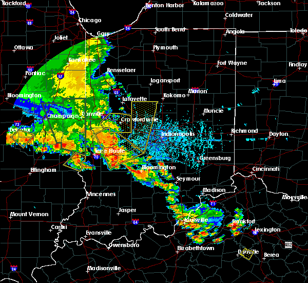 Radar Image for Severe Thunderstorms near Crawfordsville, IN at 6/30/2019 6:10 PM EDT