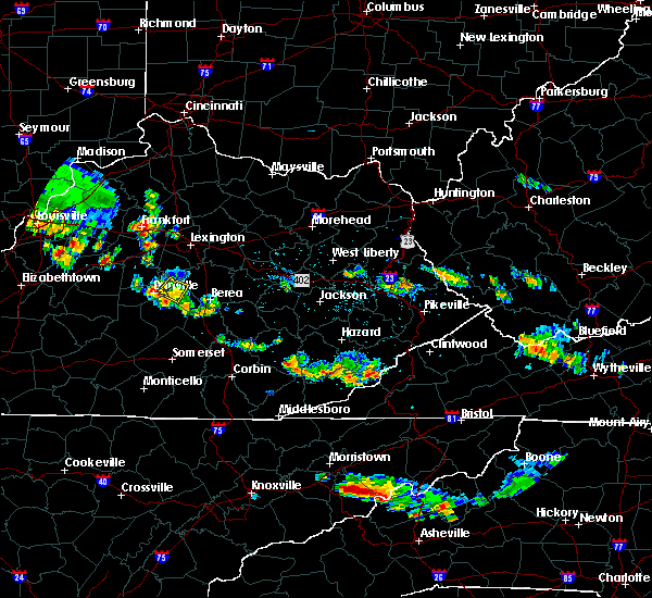 Radar Image for Severe Thunderstorms near Lancaster, KY at 6/30/2019 6:10 PM EDT