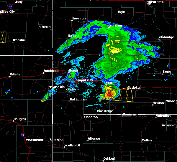 Radar Image for Severe Thunderstorms near Wanblee, SD at 6/30/2019 4:25 PM MDT