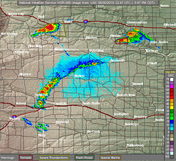 Radar Image for Severe Thunderstorms near Dallas, SD at 6/30/2019 5:53 PM CDT